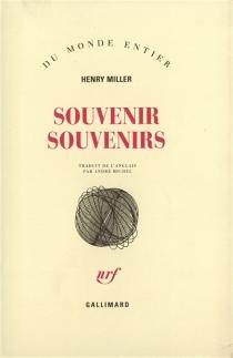 Souvenir, souvenirs - HenryMiller