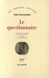 Le questionnaire - Ernst vonSalomon