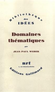 Domaines thématiques - Jean-PaulWeber