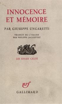 Innocence et mémoire - GiuseppeUngaretti