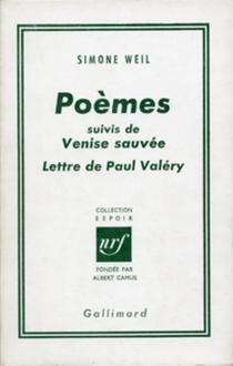 Poèmes| Venise sauvée - SimoneWeil