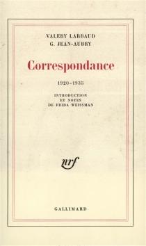 Correspondance 1920-1935 - G.Jean-Aubry