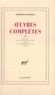 Oeuvres complètes | Volume 9 - Georges Bataille
