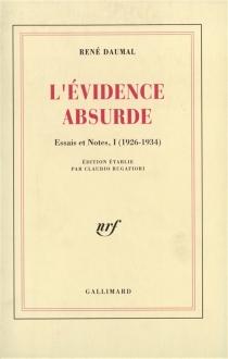 Essais et notes - RenéDaumal