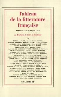 Tableau de la littérature française -