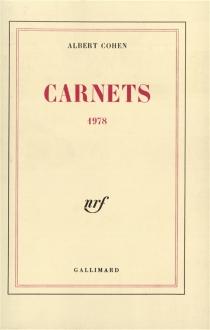 Carnets 1978 - AlbertCohen