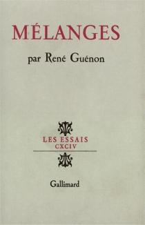 Mélanges - RenéGuénon