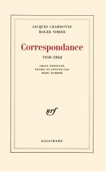 Correspondance : 1950-1962 - JacquesChardonne