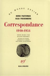 Correspondance : 1910-1954 - OlgaFreidenberg