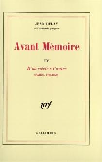 Avant mémoire - JeanDelay