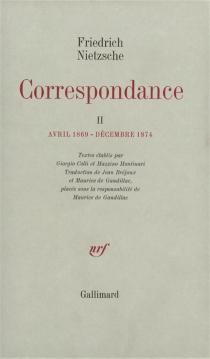 Correspondance - FriedrichNietzsche