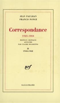 Correspondance : 1923-1968 - JeanPaulhan