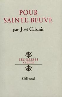 Pour Sainte-Beuve - JoséCabanis