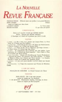 Nouvelle revue française, n° 416 -
