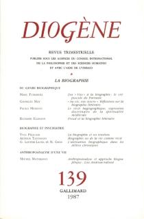 Diogène, n° 139 -