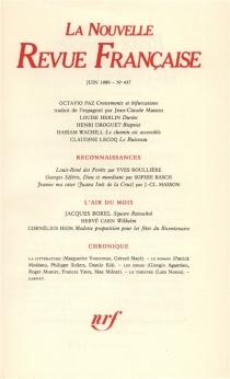 Nouvelle revue française, n° 437 -