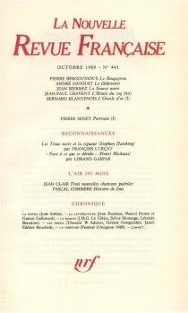 Nouvelle revue française, n° 441 -