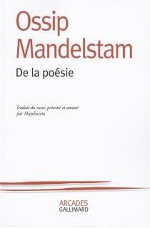 De la poésie - OssipMandelstam