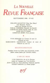Nouvelle revue française, n° 452 -