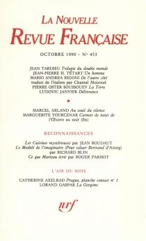 Nouvelle revue française, n° 453 -