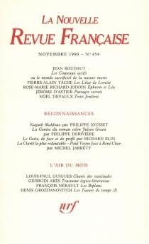 Nouvelle revue française, n° 454 -