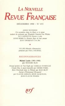 Nouvelle revue française, n° 455 -