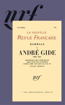 Hommage à André Gide - Nouvelle revue française