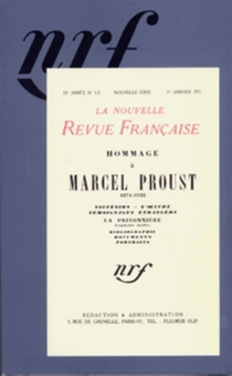 Hommage à Marcel Proust - Nouvelle revue française