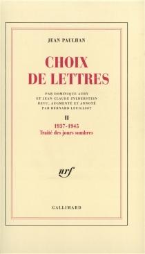 Choix de lettres - JeanPaulhan