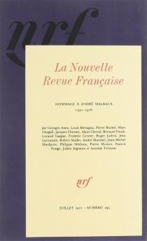 Hommage à André Malraux - Nouvelle revue française
