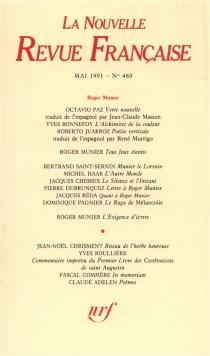 Nouvelle revue française, n° 460 -