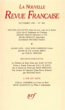 Nouvelle revue française, n° 465 -