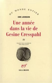 Une année dans la vie de Gesine Cresspahl - UweJohnson