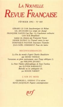 Nouvelle revue française, n° 469 -