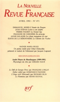 Nouvelle revue française, n° 471 -
