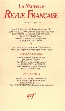 Nouvelle revue française, n° 472 -