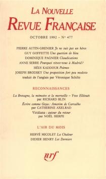 Nouvelle revue française, n° 477 -