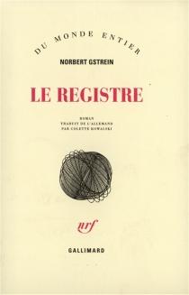 Le registre - NorbertGstrein