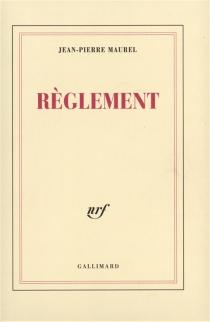 Règlement - Jean-PierreMaurel