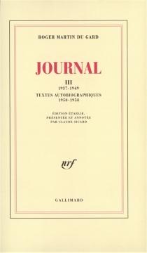 Journal - RogerMartin du Gard