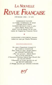 Nouvelle revue française, n° 493 -