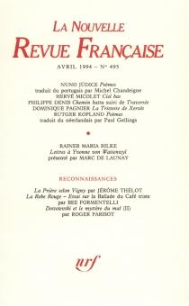 Nouvelle revue française, n° 495 -