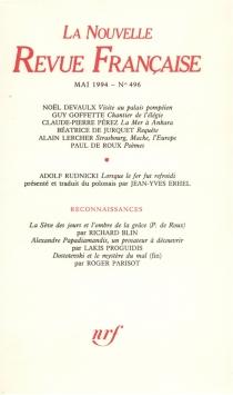 Nouvelle revue française, n° 496 -