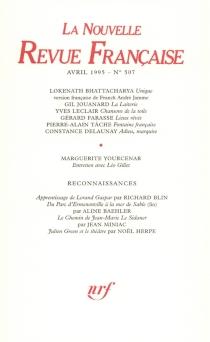 Nouvelle revue française, n° 507 -