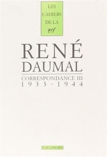 Correspondance - RenéDaumal