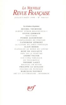 Nouvelle revue française, n° 546-547 -