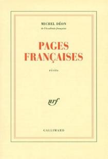 Pages françaises : récits - MichelDéon
