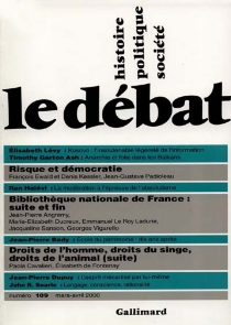 Débat (Le), n° 109 -
