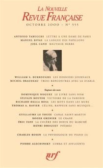 Nouvelle revue française, n° 555 -