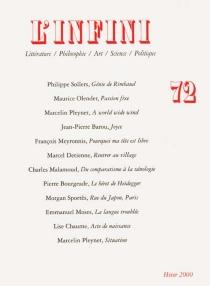 Infini (L'), n° 72 -
